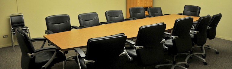 A board room table